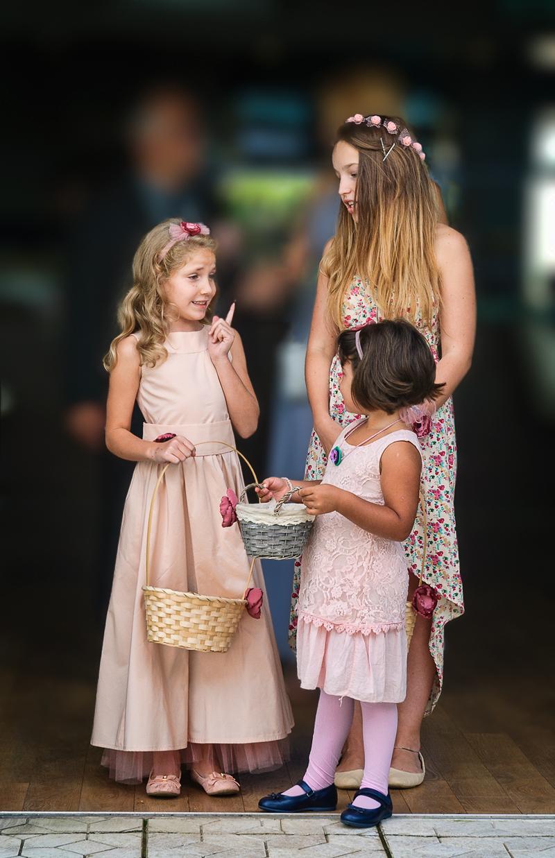 My wedding - the flower girls
