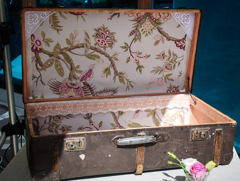 My wedding day - gifts and cards suitcase
