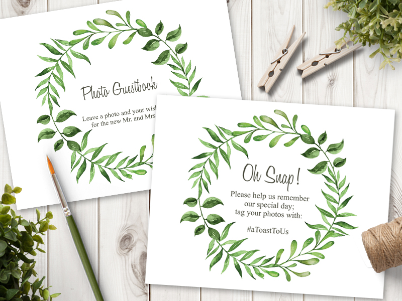 lovely-leaves-green-wedding sign