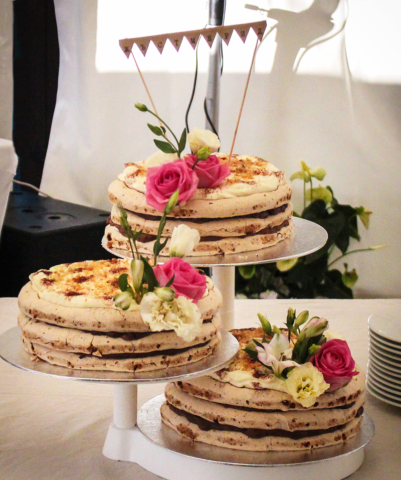 My wedding day - naked cake
